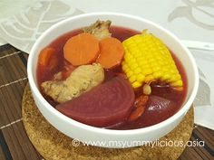 Beetroot Soup with Corn and Carrot - Yummy~licious + Baby~licious