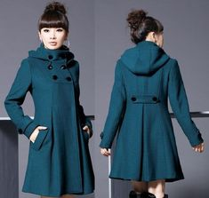 Wholesale Product Snapshot Product name is Autumn and Winter Coat Women Wool Double-Breasted Outerwear Wool Coat Women Medium-Long Coat Wool Coat Look Fashion, Winter Fashion, Fashion Women, Fashion Coat, Korean Fashion, Jackets Fashion, Hooded Wool Coat, Hooded Jacket, Coats For Women