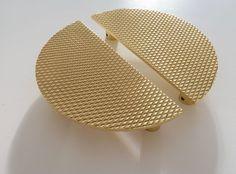 Pair of Luxury GOLD Door / Wardrobe handles /knobs Semi Circular, Italian made. Brass Door Handles, Door Pull Handles, Cupboard Handles, Door Pulls, Knobs And Pulls, Door Knobs, Drawer Knobs, Split Door, Wardrobe Handles