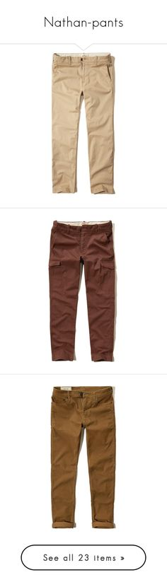 """""""Nathan-pants"""" by those-families ❤ liked on Polyvore featuring mackinnonsiblings, men's fashion, men's clothing, men's pants, men's casual pants, light khaki, mens elastic waistband pants, mens chino pants, mens slim fit chino pants and mens twill pants"""