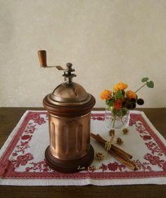 European copper coffee mill