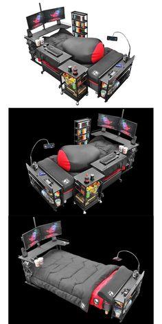 Computer Gaming Room, Gaming Room Setup, Awesome Bedrooms, Cool Rooms, Gamer Room, Pc Gamer, Cool New Gadgets, Otaku Room, Bedroom Setup