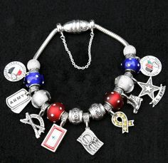 Army Friend Mom Life Military Pandora Charms Bracelets Charm Dog Tags Solr