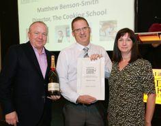 2013 #YorkshireLife #Food & #Drink #Awards, Rudding Park, #Harrogate. #EducationAward, Simon Rhatigan with Matthew Benson-Smith and  Sue Stones, Harvey Nichols (sponsor).