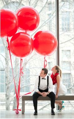 Red and Black Geronimo Balloons