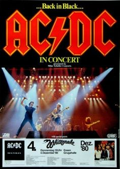 AC/DC Concert Poster https://www.facebook.com/FromTheWaybackMachine/