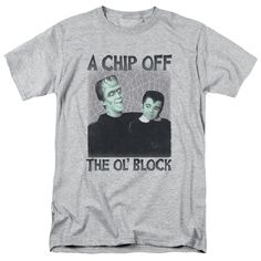 Munsters/Chip Short Sleeve Adult T-Shirt 18/1 in Athletic Heather