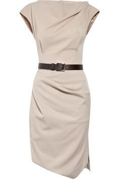 Michael Kors belted stretch-wool dress - so darn adorable.