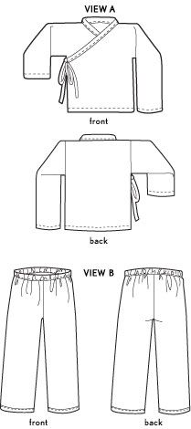 Boys or Girls Free vest sewing pattern for kids and