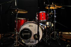 Classic Ludwig Kit setup to record at Superfly Studios