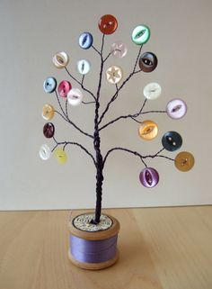Wire Button Trees. See more