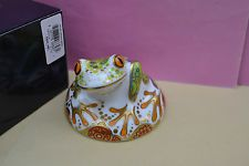"""Royal Crown Derby Paperweight """"HOP"""" Tree Frog 1st Quality & Original Box"""