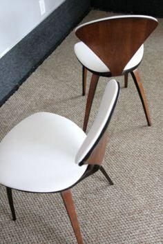 2 mid century plycraft norman cherner chairs eames era