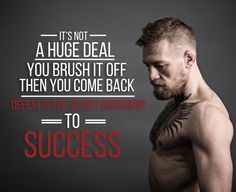 It's not a high deal. You brush it off then come back. Defeat is the secret to success.