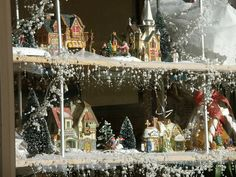 50 Christmas Village Window Display Ideas - Home to Z Merry Christmas To All, Christmas Store, Primitive Christmas, Country Christmas, All Things Christmas, Christmas Holidays, Antique Christmas, Christmas Shopping, Christmas Village Display