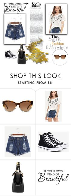 """""""Shein #1/1"""" by almaa-26 ❤ liked on Polyvore featuring Michael Kors, Converse, Sheinside and shein"""
