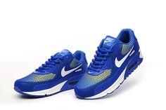 Men s Nike Air Max 90 KPU Shoes Royal Blue White Yellow 81e39acb2