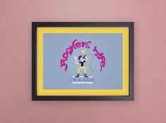 """""""Rocker's Life"""" - R$24,90 Ilustração para quadro decorativo, com paspatu amarelo. Gostou? Compre pelo Mercado Livre - http://produto.mercadolivre.com.br/MLB-882768391-poster-decorativo-estudio-de-gravaco-ou-escola-de-musica-_JM  #decoracao #ilustra #rock #quadro #studio #hipster #tipografia #custom #persnalizado #style"""