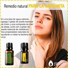 Para la garganta My Doterra, Doterra Essential Oils, Young Living Essential Oils, Essential Oil Blends, Melaleuca, Citrus Lemon, Roller Bottle Recipes, Esential Oils, Doterra Recipes
