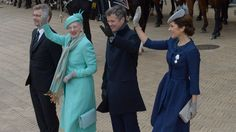 Queen Margrethe, Crown Prince Frederik and Mary of Denmark 4/16/2015