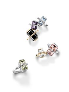 Efva Attling Little and Bend Over Rings. Rings in 18k gold or white gold with precious stones and diamonds.#efvaattling #wedding #gold #diamonds #jewelry #bendover #rings #gift #attlingwedding
