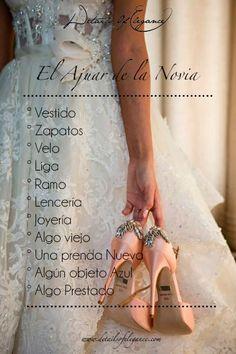 El #ajuar de la novia se compone por varios elementos que son muy importantes en tu #boda