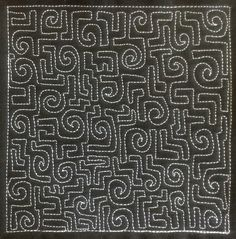 The Free Motion Quilting Project: 26. Learn how to Quilt Cyber Spiral, Design #386
