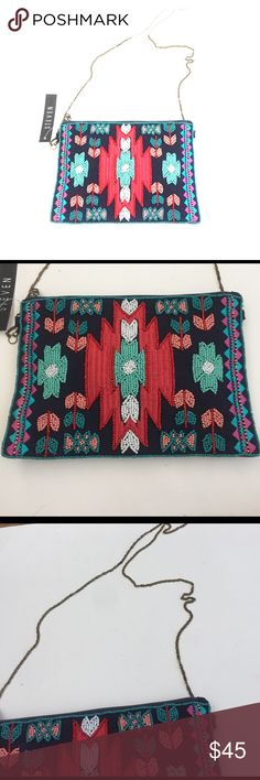 NWT Steven By Steve Madden Beaded Cross Body Beaded Crossbody in the front and material in the back. With a chained strapped this bag is perfect for an on the go girl. Get it before it sells out Steven by Steve Madden Bags Crossbody Bags