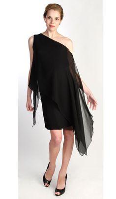 Layered Chiffon Dress - Maternity