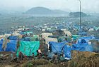 Rwandan refugee camp in east Zaire