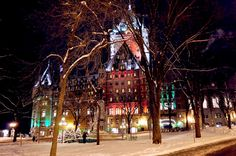Le Château Frontenac Hotel |Christmas in Old Quebec City