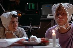 Weird Science. There are a lot of odd [weird] random pictures from this movie that make you go: WTF?! And you just go along with it in the movie!!