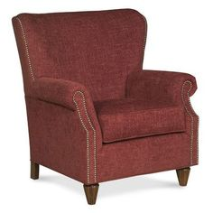 Fairfield Chair Curved Back Traditional Wingback Chair Color: