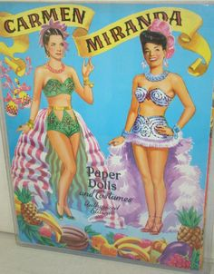 CARMEN MIRANDA PAPER DOLL BOOK : Lot 1198