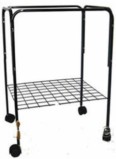 """Spray it white and we're in business.  I really LIKE the 14x18 cage one for 40 bucks. Which one to chooose...the round one with iron stand or ...menno..HARD!! Bird Cage Stand for Both 18"""" x 14"""" or 18"""" x 18"""" Cages 4813 Black 