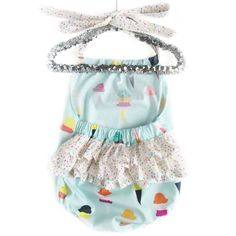 Ruffle Bum Romper Ice Cream Outfit Sprinkles by TheCrankyPeach