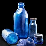 Bromo Seltzer Noxema Cobalt Blue Sea Glass Old Glass Bottles, Vintage Bottles, Sea Glass Beach, Museum Exhibition, Cobalt Blue, Shells, Pottery, Rock, Beautiful