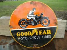 Quality Advertising with free worldwide shipping on AliExpress Goodyear Logo, Old Garage, Motorcycle Tires, Garage Signs, Old Signs, Advertising Signs, Gas Station, Metal Signs, Vintage Signs