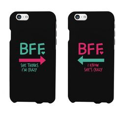 Funny BFF Phone Cases Crazy Best Friend Phone Covers for iphone 4, iphone 5, iphone 5C, iphone 6, iphone 6 plus, Galaxy S3, Galaxy S4, Galaxy S5, HTC M8, LG G3...