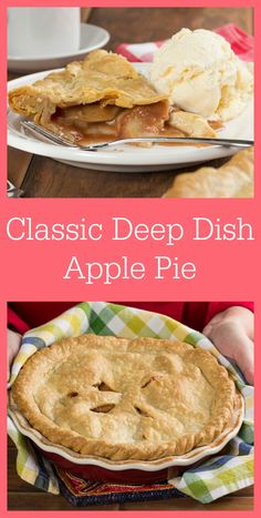 Who can resist a classic deep-dish apple pie like this one? Serve it warm with a scoop of ice cream and you've got the perfect dessert!
