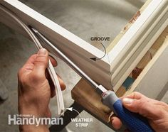 Leaf Type Weatherstripping For A Wood Casement Window