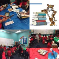 Mrs. Tedford enticed her 5th Grade students with a book tasting! #RISEArkansas #jaguarsread