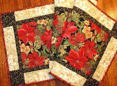 Elegant Christmas Quilted Table Runner with by susiquilts on Etsy, $48.00