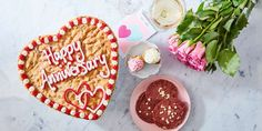 Heart Shaped Giant Cookies | Millie's Cookies  Did you know Millies cookies do giant custom cookies with next day delivery? I sent my husband a 'just because I love you' cookie to his work a few weeks ago and made his day :) Giant Cookies, Yummy Cookies, Cake Cookies, Dinosaur Cookies, Unicorn Cookies, Personalized Cookies, Custom Cookies, Millies Cookies, Heart Shaped Cookies