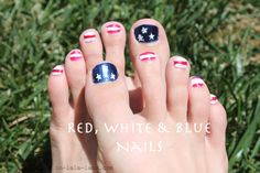 Red, White, & Blue Nails