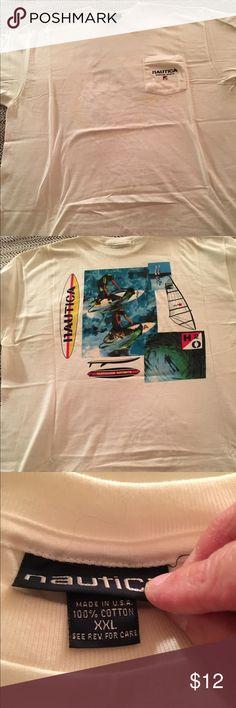 Mens XXL Vintage Nautica TShirt Mens XXL Vintage Nautica TShirt. 100% Cotton Nautica Shirts Tees - Short Sleeve
