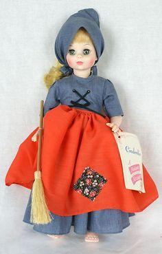 Vintage Madame Alexander POOR CINDERELLA Doll 1960's Original Hang Tag Blue