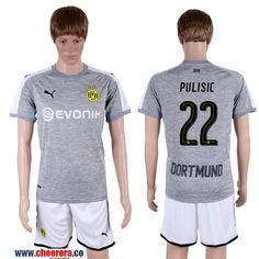 2017-18 Dortmund 22 PULISIC Third Away Soccer Jersey