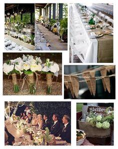 Burlap smuiter-wedding