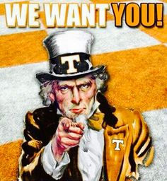 uncle sam joins the universty of tennessee uncle sam is a vol fan